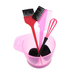 Hair Dye Color Brush Bowl Set With Ear Caps Dye Mixer Hairstyle Accessorie