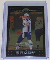 2007 Topps Chrome Tom Brady #TC6 New England Patriots NFL Silver Signature Card
