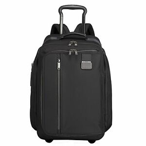 TUMI Merge Black Wheeled Convertible Backpack International Carryon Luggage $575