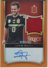 2015 SELECT SOCCER WORN JERSEY AUTO: JUAN MATA #71/75 SPAIN/MANCHESTER UNITED