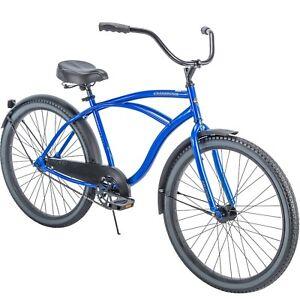 "New Huffy 56409P7 Cranbrook 26 inch Cruiser Bicycle Blue Mens Bike 26"""
