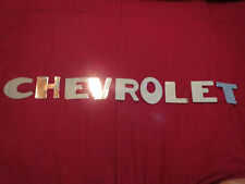 1947 – 1953 CHEVROLET PICKUP TRUCK TAILGATE LETTERS LETTERING DECALS SET IN CHRO