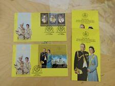 2015 Perak Kuala Kangsar Sultan Nazrin Installation MS + Stamps set FDC pair