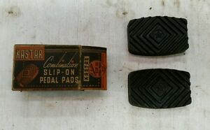 NOS Kastar pedal pads universal 1929-1946 Buick Oldsmobile Pontiac Nash