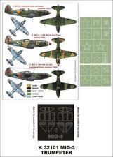 Montex Super Mask 1:32 MiG-3 for Trumpeter Kit #2 Spraying Stencil #K32101