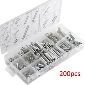200 Set Assorted Coil Spring Small Metal Steel Expansion Compressed Springs