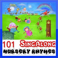 101 Nursery Rhymes CD Favourite children's kids songs to sing along with 2 cd's