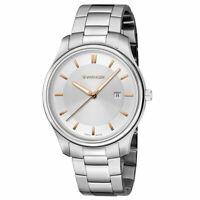 Wenger Men's Watch City Classic Silver Tone Dial Steel Bracelet 01.1441.105