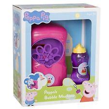 Peppa Pig Peppa's Machine à Bulles AVEC Mélange extérieur Jouet Nouveau Emballé