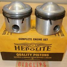 1959-ONLY Matchless G12 650cc NOS 72mm STD Hepolite #15036 piston assemblies -84