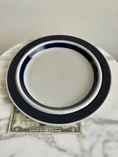 "Early 1960s ARABIA Finland BLUE ANEMONE 10-1/8"" DINNER PLATE-ULLA PROCOPE"