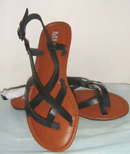Mia Cruise Black Vegan Sandals Size 6
