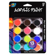 10 Pieces 12x5ml Acrylic Paint Set 12 Colors 1 Brush Saft Great for Kids Artwork