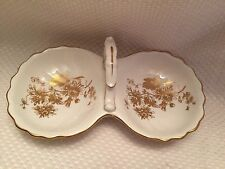 HAMMERSLEY & CO BONE CHINA GOLD CHRYSANTHEMUM ONE HANDLE CANDY AND NUT DISH