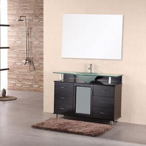 "Design Element DEC015C Huntington 48"" Single Sink Vanity Set in Espresso"