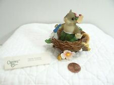 Charming Tails Spring Cleaning Mouse in Bird Nest Feather Duster 98/256 Boxed Se