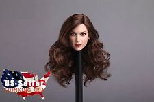 1/6 Female Head Sculpt Long Curly Hair For Phicen PALE Figure Hot Toys ❶USA❶
