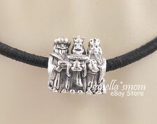 3 KINGS/WISE MEN Authentic PANDORA Silver/14K Gold NATIVITY~CHRISTMAS Charm~Bead