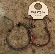 Puravida Set of 2 Women's Bracelets Purple/Pink/Blue