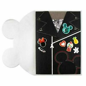 Papyrus Blank Card - Disney Mickey Minnie Mouse Embroidered Leather Biker Jacket