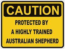 RACE CHIEN Australien BERGER Avertissement AUTOCOLLANT ANIMAL pour PARE-CHOC