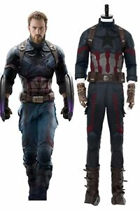 Avengers3: Infinity War Captain America Costume Shield Cosplay Men Steven Rogers