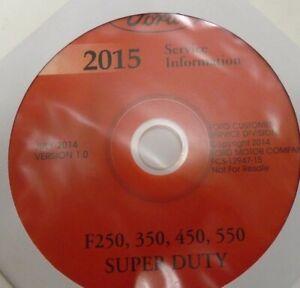 2015 Ford F250 F350 Truck Shop Service Repair Manual DVD XL XLT Lariat 6.7L V8