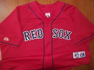 Vintage Majestic MLB Boston Red Sox Baseball Jason Varitek Stitched Jersey XXL