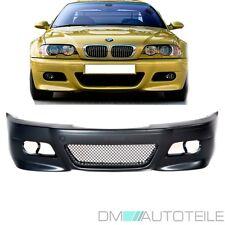 BMW E46 3 er Coupe Cabrio Stoßstange Vorne 99-03 + ABS GITTER für M3 + Schwarz