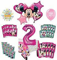 Mayflower Products Minnie Mouse 2nd Birthday Party Supplies and 8 Guest Balloon
