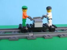 New Train Hand Car + Minfigs fits RC 9V IR Track Sets Built w/ New Lego Bricks