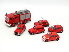 Praline 1/87 HO - Lot de 6 Véhicules de  Pompiers France Renault