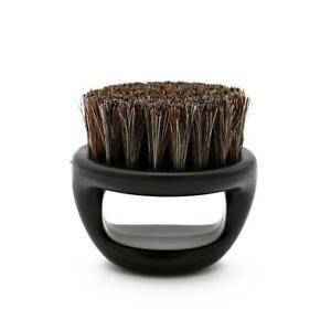 Barber Fade Anti Static Boar Bristle Finger Ring Mens Beard Brush Mustache Brush