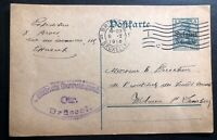 1916 Bruxelles German Occupied Belgium WW1 Postcard Censored Cover