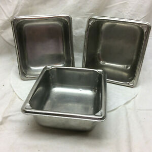 3 Stainless Steel Pans Super Pan II by Vollrath