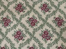 "FABULOUS FLORAL HOOK RUG/RUNNER~TRELLIS DESIGN~PINK,GREEN 25""X60"""