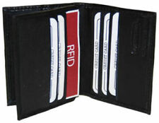 RFID Blocking Leather Men's Wallet Center Flap Credit Card ID Holder New