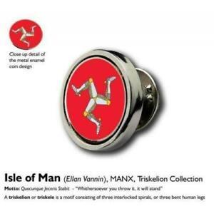 15mm Coin Lapel Pin Badge Tie Pin: Isle of Man (Ellan Vannin)