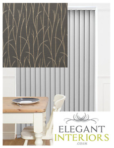 Sio Charcoal Patterned Dimout Grey/Gold -Made To Measure Complete Vertical Blind