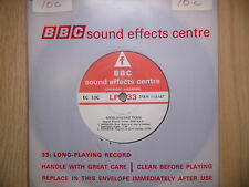 "BBC Sound Effects 7"" Record - Diesel Electric Train, English Vulcan 2000 b.h.p."