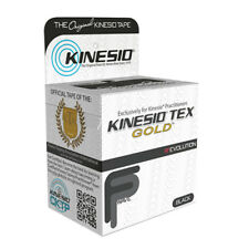 "Kinesio Tape, Tex Gold FP, 2"" x 5.5 yds, Black 1 Roll- 24-4873 NEW"