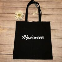 Madewell Bien Fait Black Canvas Tote Reusable Shopping Store Bag