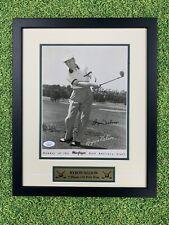 Byron Nelson Signed 8x10 Jsa Auto Custom Framed PGA Golf Major Mcgregor