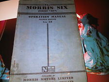 Morris Six 6 Series MS Owners Operation Manual Handbook Instruction Guide