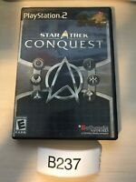 Star Trek: Conquest (Sony PlayStation 2, 2007) TESTED PS2 CIB Black Label