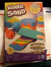 Kinetic Sand Rainbow Mix Set 3 Colors (13.5) 6 Tools creative artistic art