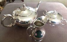 3 Pièces Plaqué Argent Tea Set.