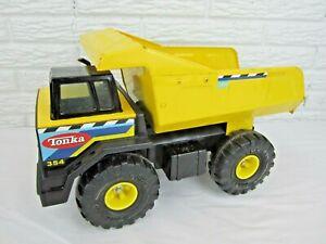 Hasbro TONKA 354 Dump Truck Metal Pressed Steel Yellow Vintage 90s Toy