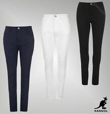 Ladies Kangol Everyday Zip Fly Skinny Stretch Jeans Chinos Sizes from 8 to 16