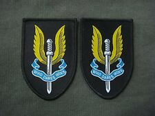 Set of 2 SAS Who Dares Wins Jump Para Airborne Wings Woven Patches